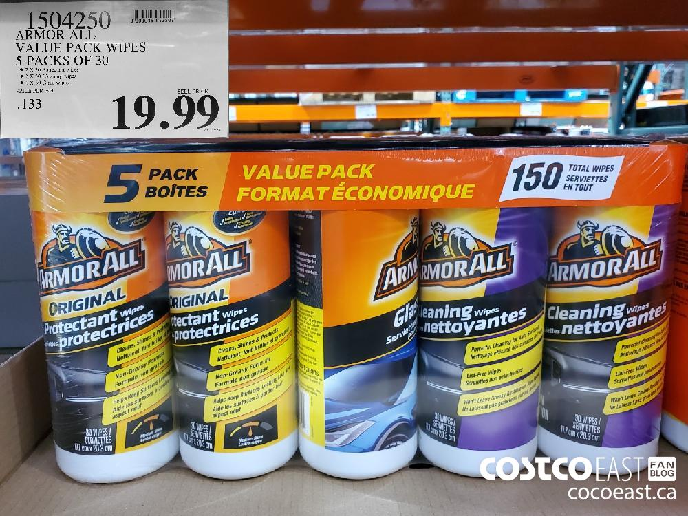 1504250 ARMOR ALL VALUE PACK WIPES 5 PACKS OF 30 $19 99