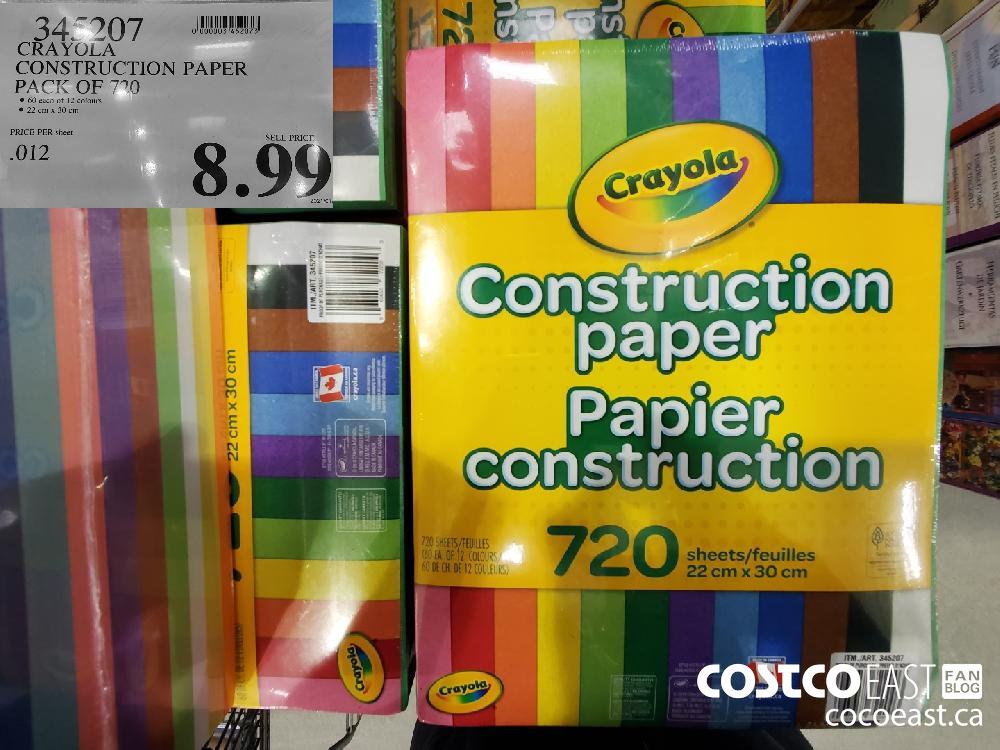 345207 CRAYOLA CONSTRUCTION PAPER PACK OF 720 $8.99