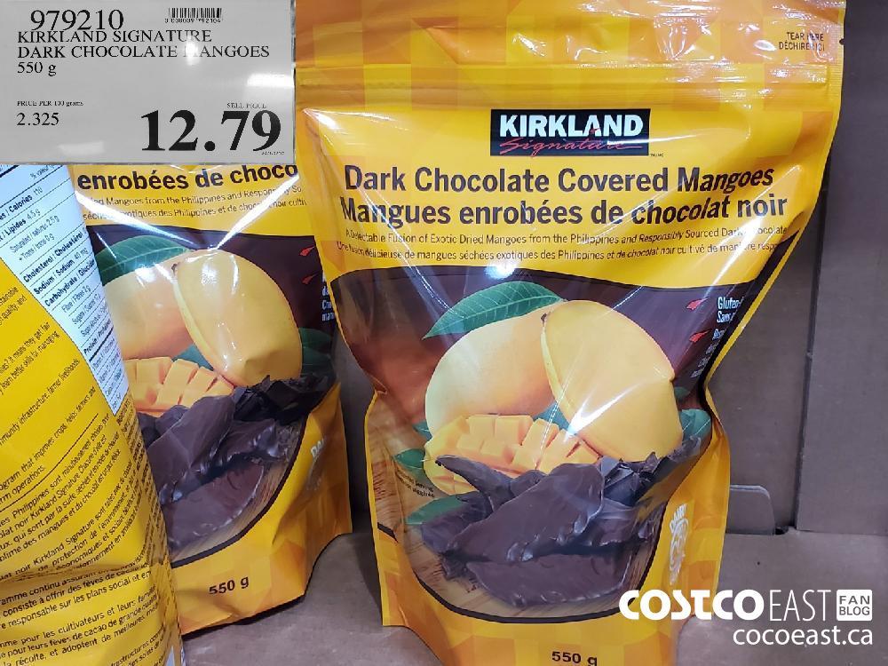 979210 KIRKLAND SIGNATURE DARK CHOCOLATE. ANGOES 550 g $12.79