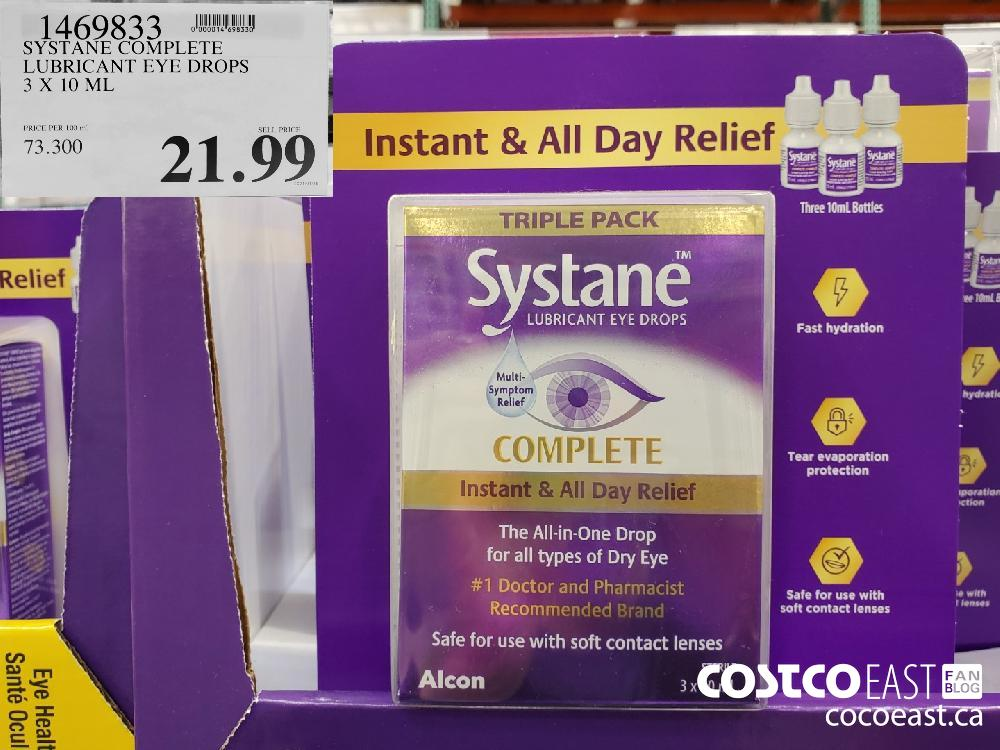 1469833 Mm SYSTANE COMPLETE LUBRICANT EYE DROPS 3 X 10 ML $21.99