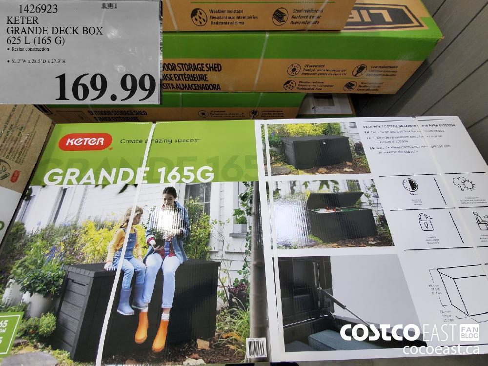 1426923 KETER GRANDE DECK BOX | 625 L (165 G) $169.99