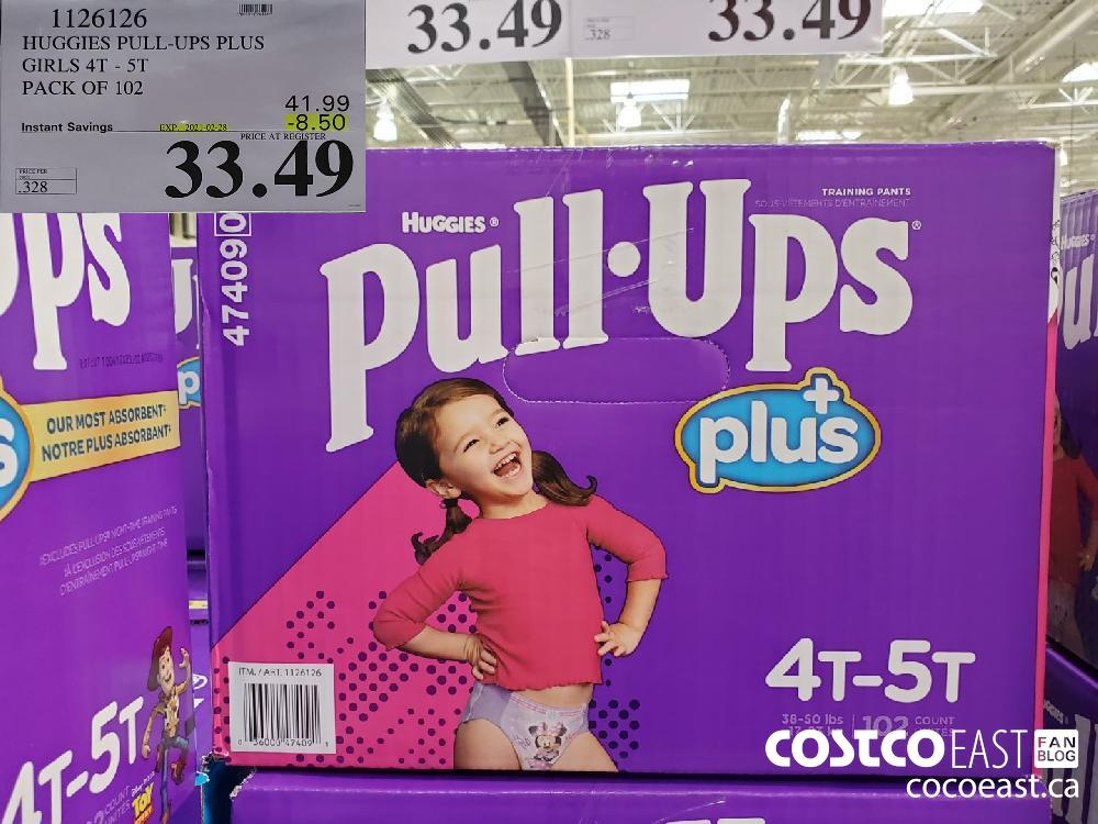 1126126 HUGGIES PULL-UPS PLUS GIRLS 47 - 51 PACK OF 102 EXPIRY DATE: 2021-02-28 $33.49