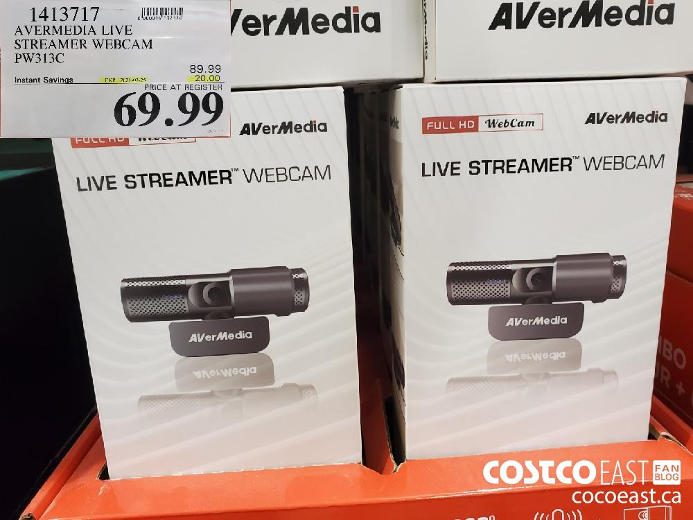 1413717 ~ AVERMEDIA LIVE STREAMER WEBCAM EXPIRY DATE: 2021-02-25 $69.99