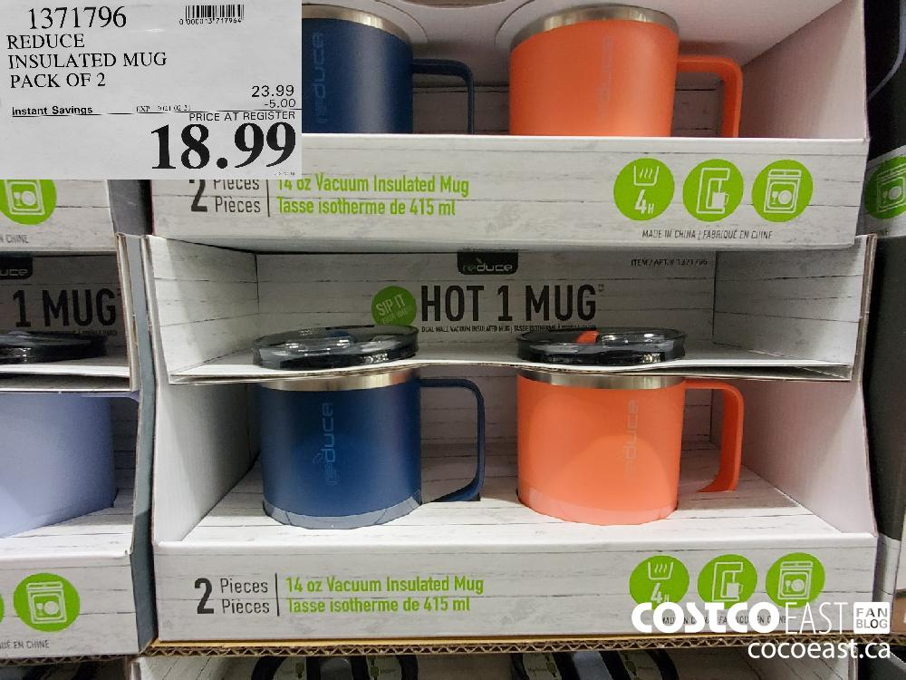 1371796 REDUCE INSULATED MUG PACK OF 2 EXPIRY DATE: 2021-02-21 $18.99