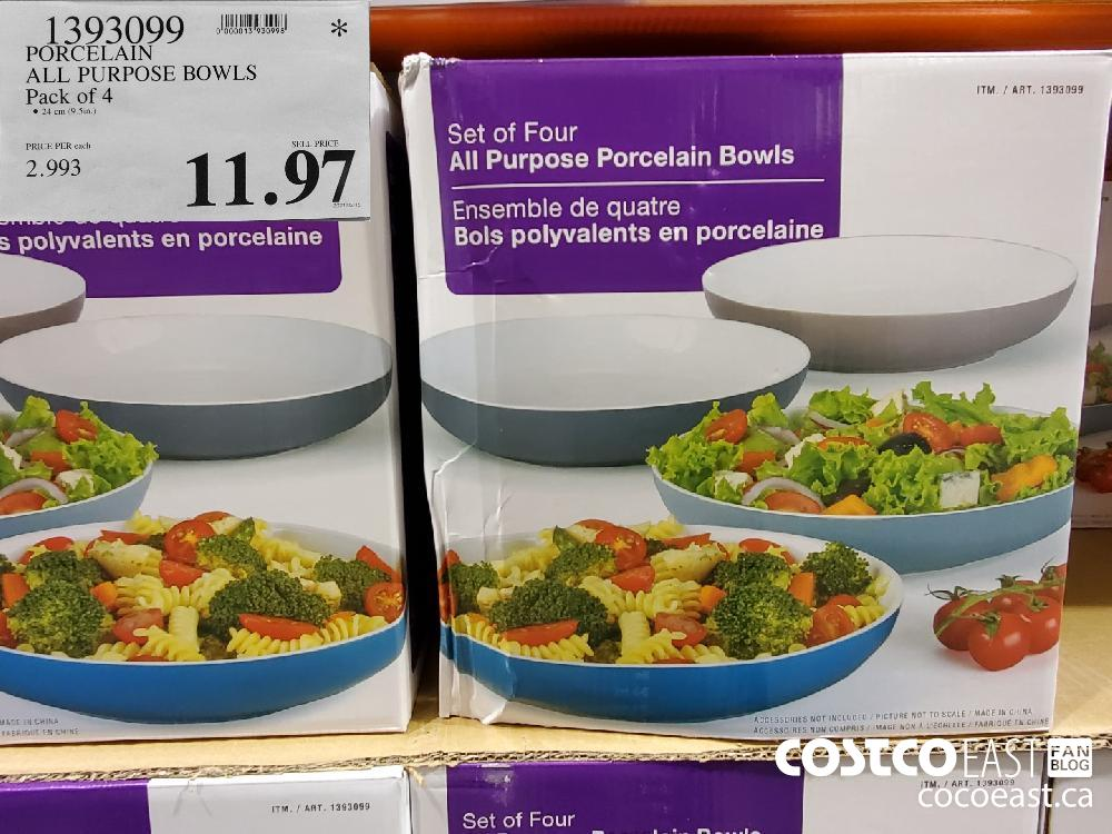 1393099 PORCELAIN ALL PURPOSE BOWLS Pack of 4 $11.97