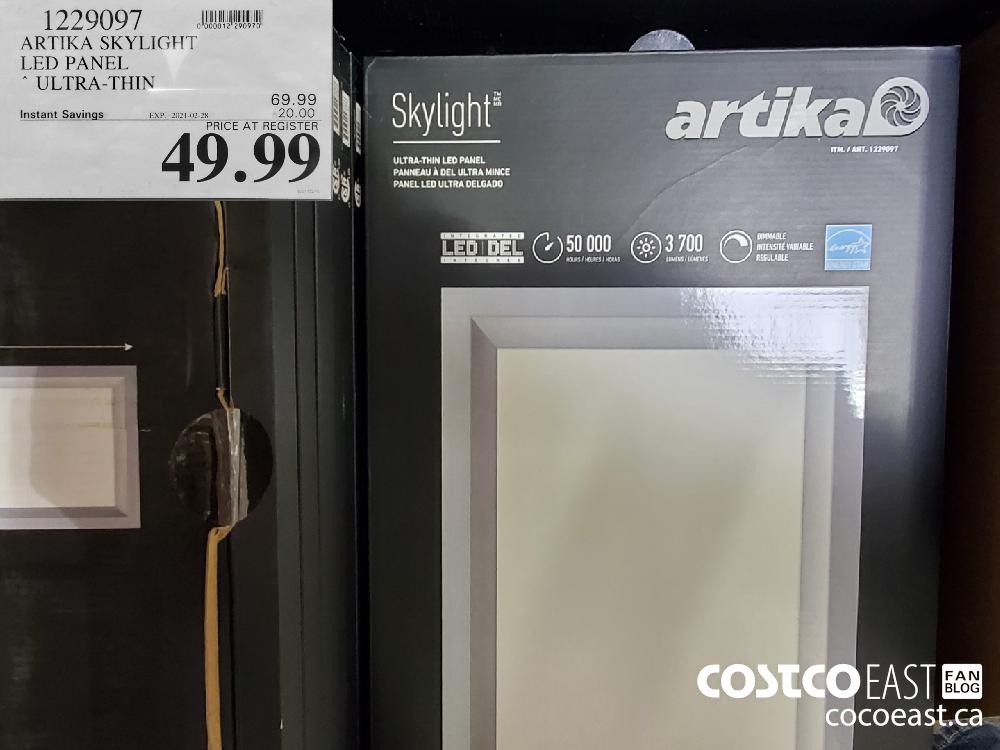 1229097 ARTIKA SKYLIGHT LED PANEL ~ ULTRA-THIN EXPIRY DATE: 2021-02-28 $49.99