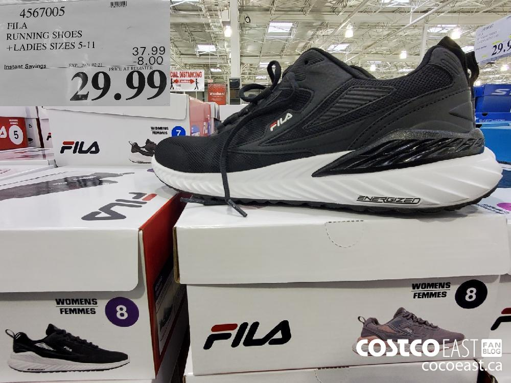 4567005 FILA RUNNING SHOES LADIES SIZES 5-11 EXPIRY DATE: 2021-02-28 $29.99