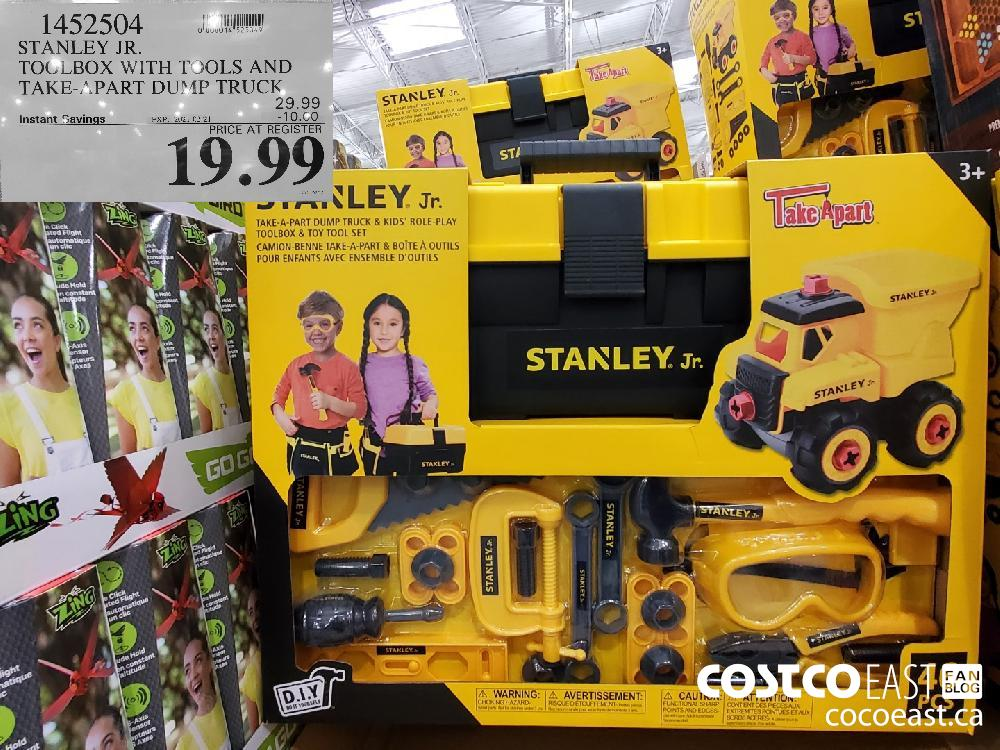 1452504 STANLEY JR. TOOLBOX WITH TOOLS AND TAKE-APART DUMP TRUCK EXPIRY DATE: 2021-02-21 $19.99