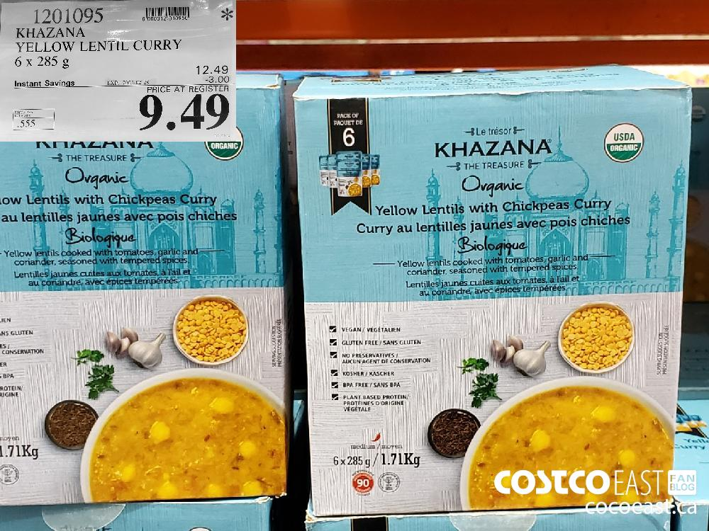 1201095 KHAZANA YELLOW LENTIL CURRY 6 x 285 g EXPIRY DATE: 2021-02-28 $9.49
