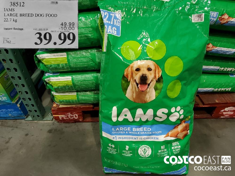 38512 IAMS LARGE BREED DOG FOOD 22.7 kg EXPIRY DATE: 2021-02-28 $39.99