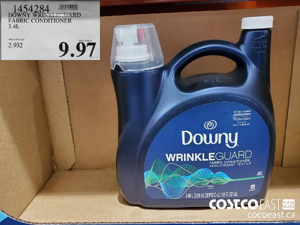 1454284 DOWNY WRINKLEGUARD FABRIC CONDITIONER 3.4L $9.97