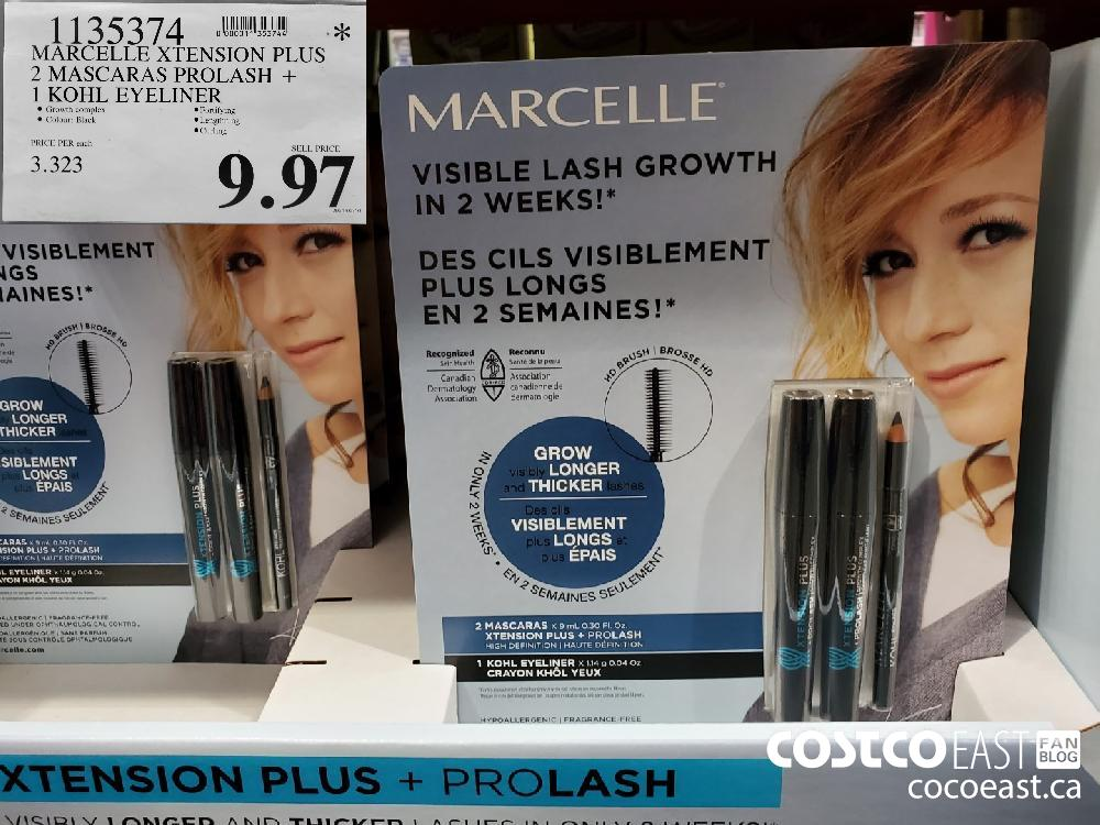 1135374 MARCELLE XTENSION PLUS 2 MASCARAS PROLASH 1 KOHL EYELINER $9. 97