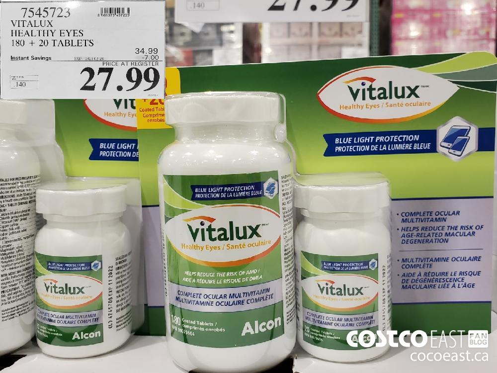 7545723 VITALUX ~ HEALTHY EYES 180 20 TABLETS EXPIRY DATE: 2021-02-28 $27.99