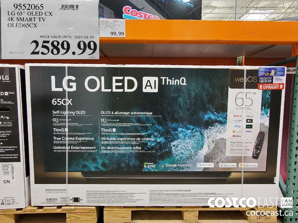 """9552065 LG 65""""-OLED CX 4K SMART TV OLED65CX 2589.99"""