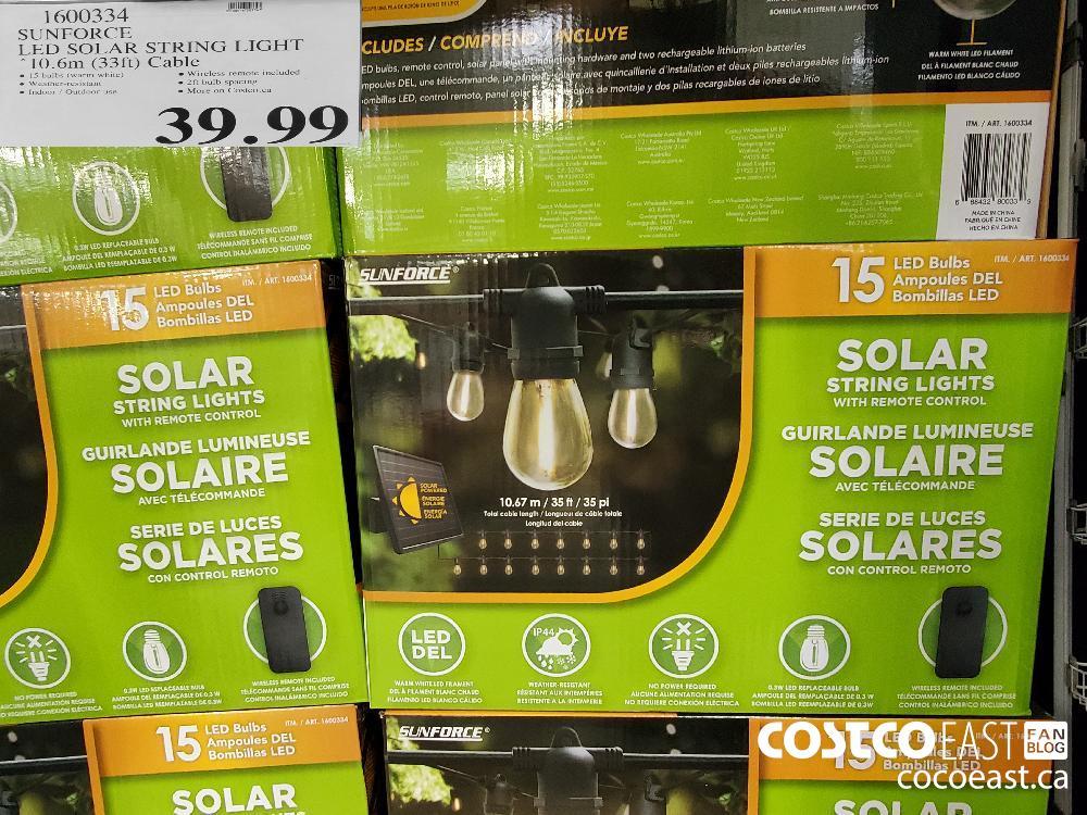 1600334 SUNFORCE LED SOLAR STRING LIGHT $39.99