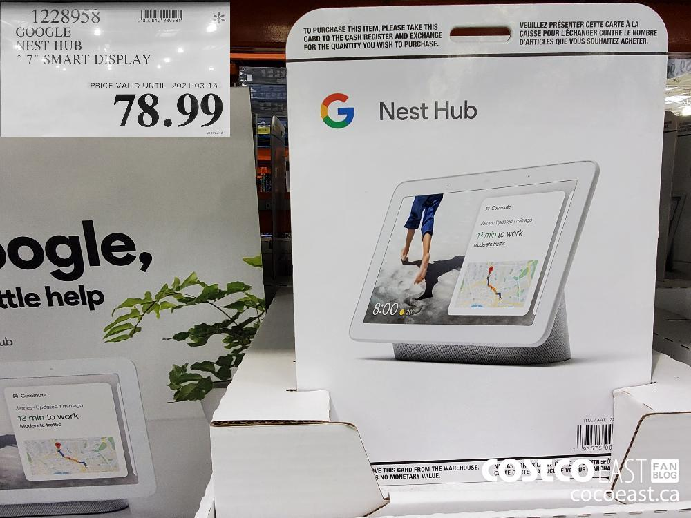 "1228958 GOOGLE NEST HUB 7"" SMART DISPLAY $78.99"
