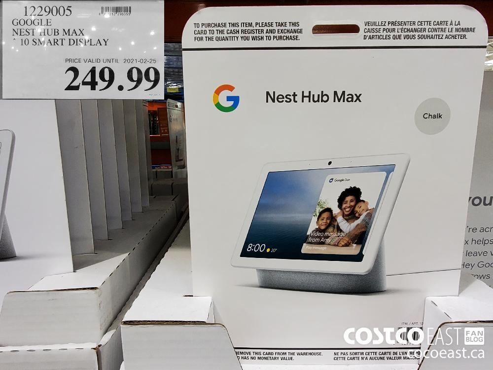 1229005 GOOGLE NEST dUB MAX 10 SMART DISPLAY $249.99
