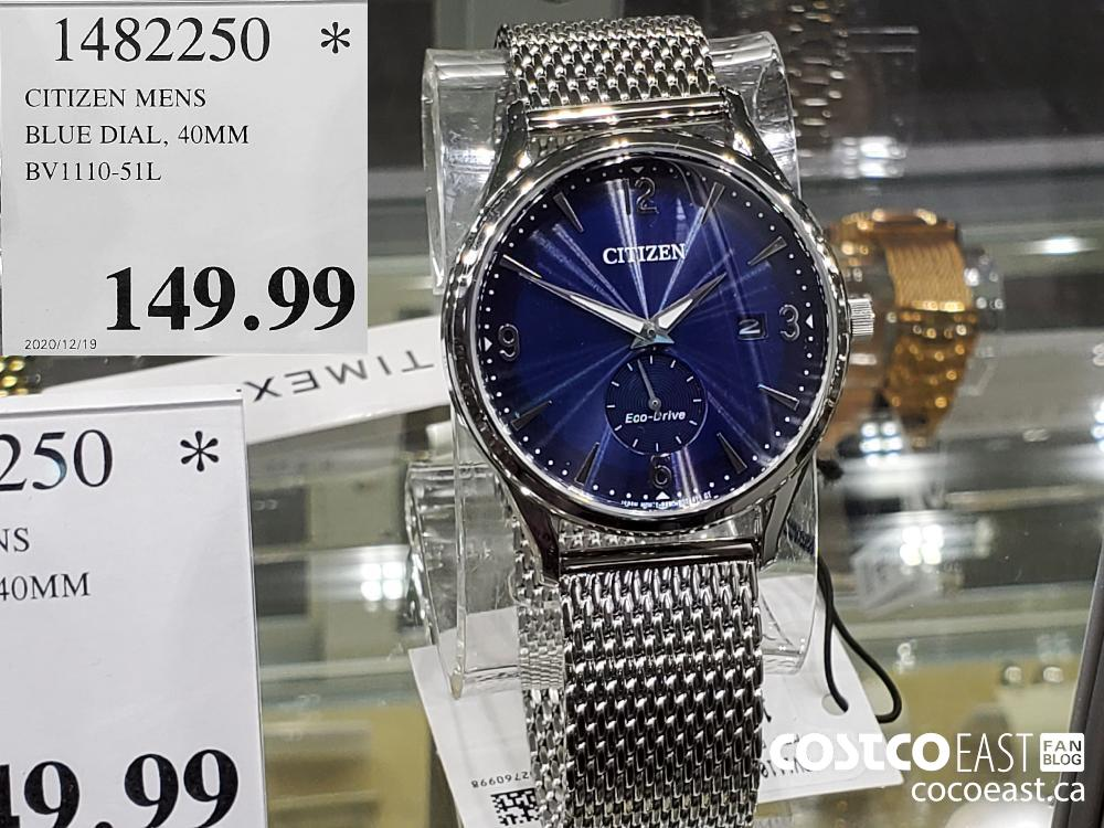 1482250 CITIZEN MENS BLUE DIAL 40MM BV1110-51L $149.99