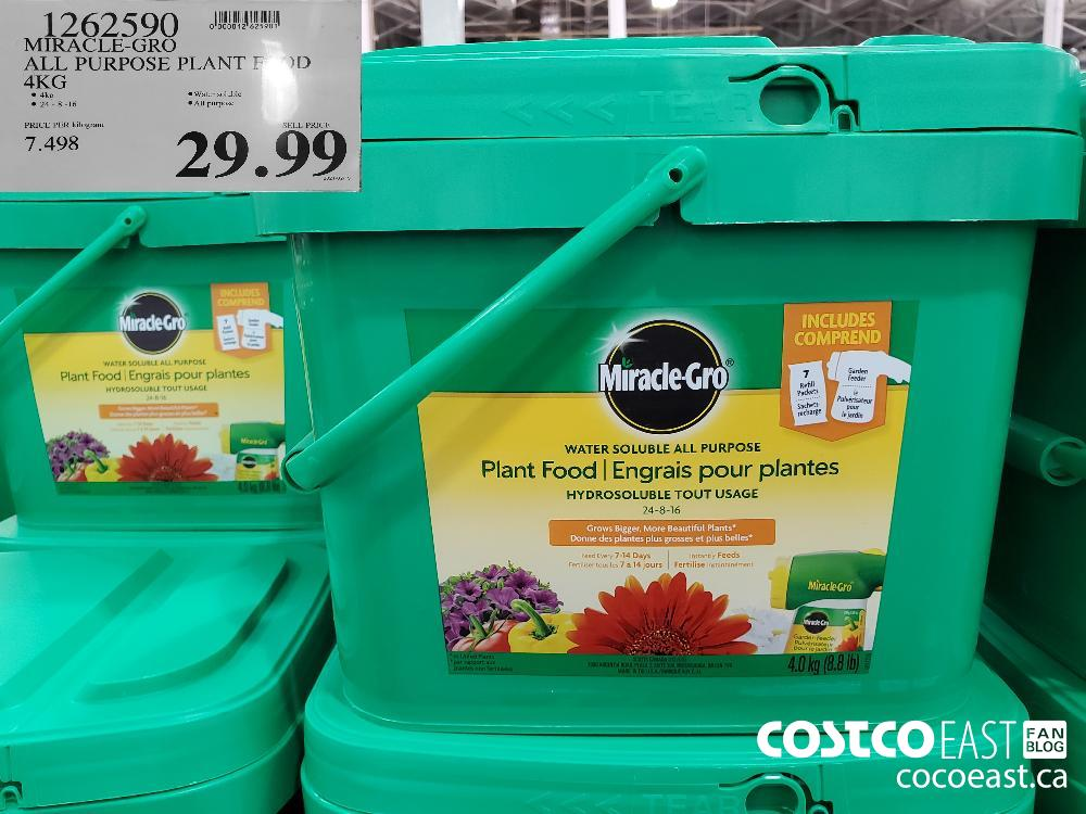 1262590 MIRACLE-GRO ALL PURPOSE PLANT FOOD 4KG $29. 99
