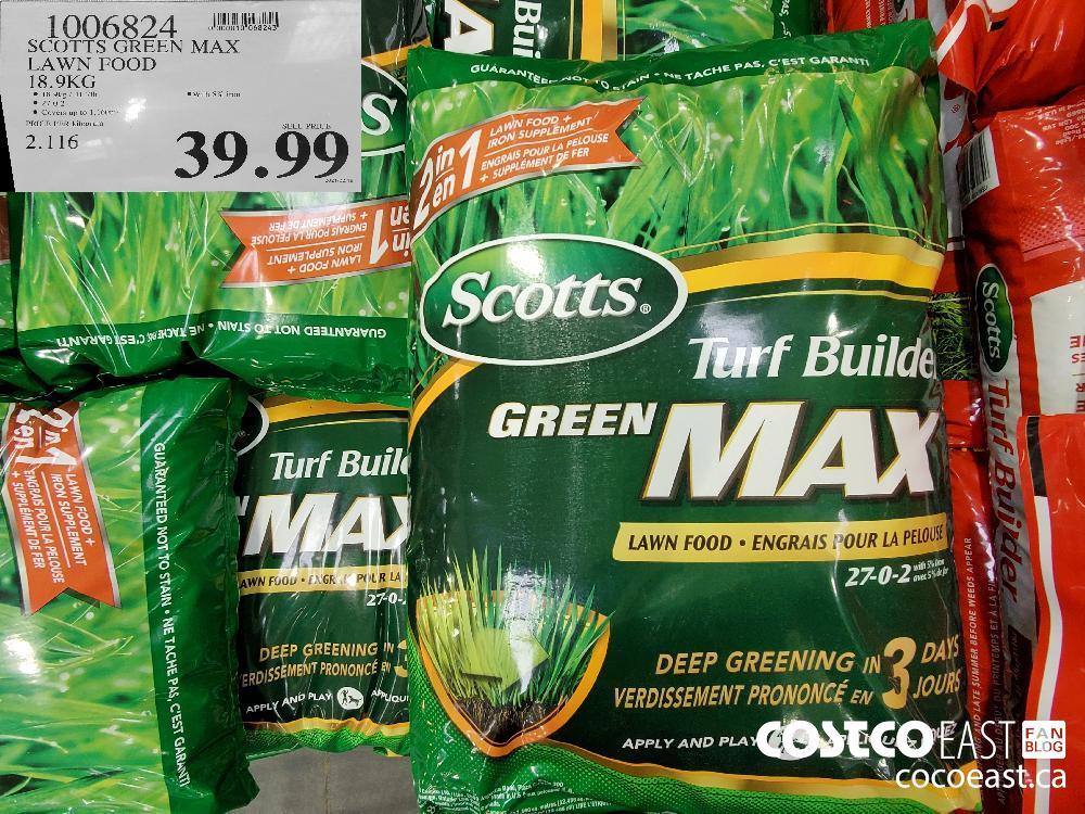 0006824. SCOTTS GREEN MAX LAWN FOOD 18.9kg $39.99