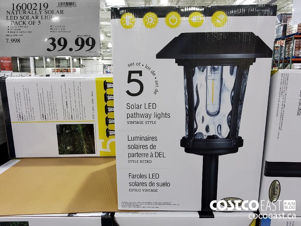 1600219 NATURALLY SOLAR LED SOLAR LIG! PACK OF 5 $39.99