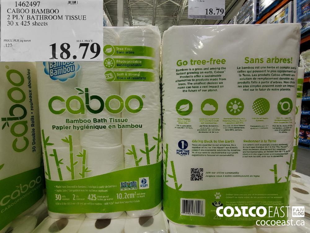 1462497 CABOO BAMBOO 2 PLY BATHROOM TISSUE 30 x 425 sheets $18.79