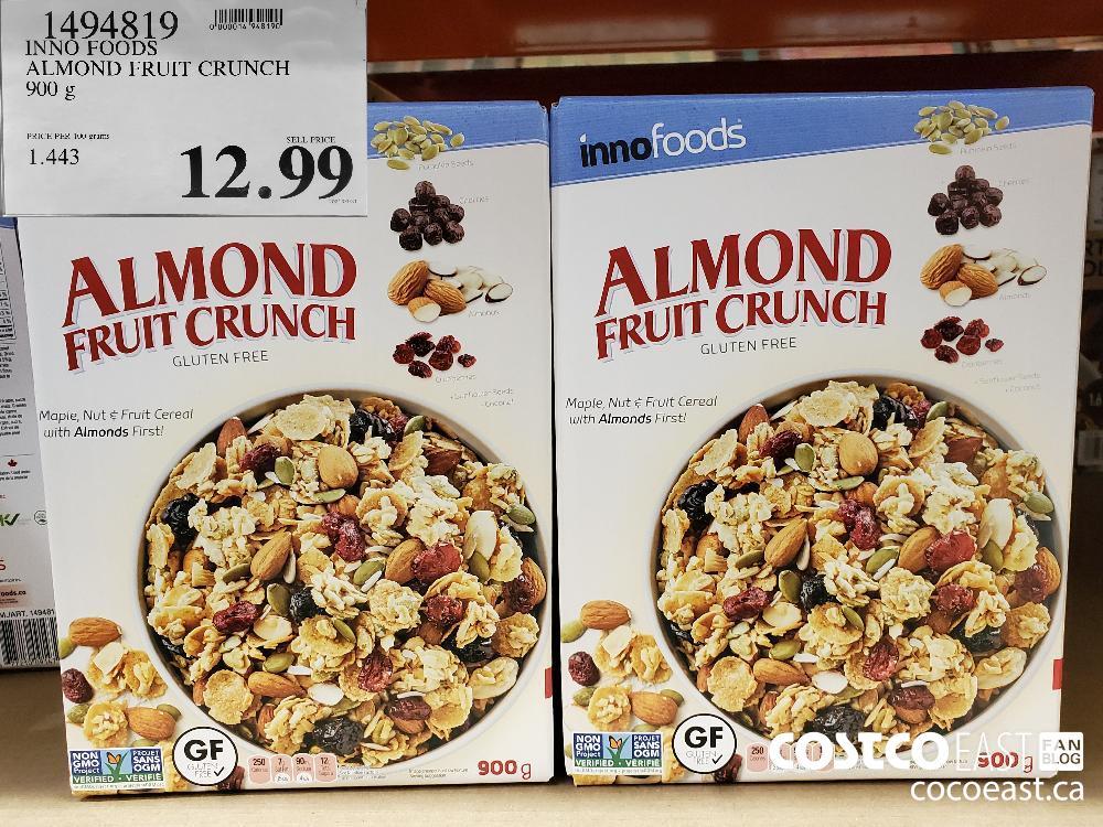 1494819 INNO FOODS ALMOND FRUIT CRUNCH 900 g $12.99