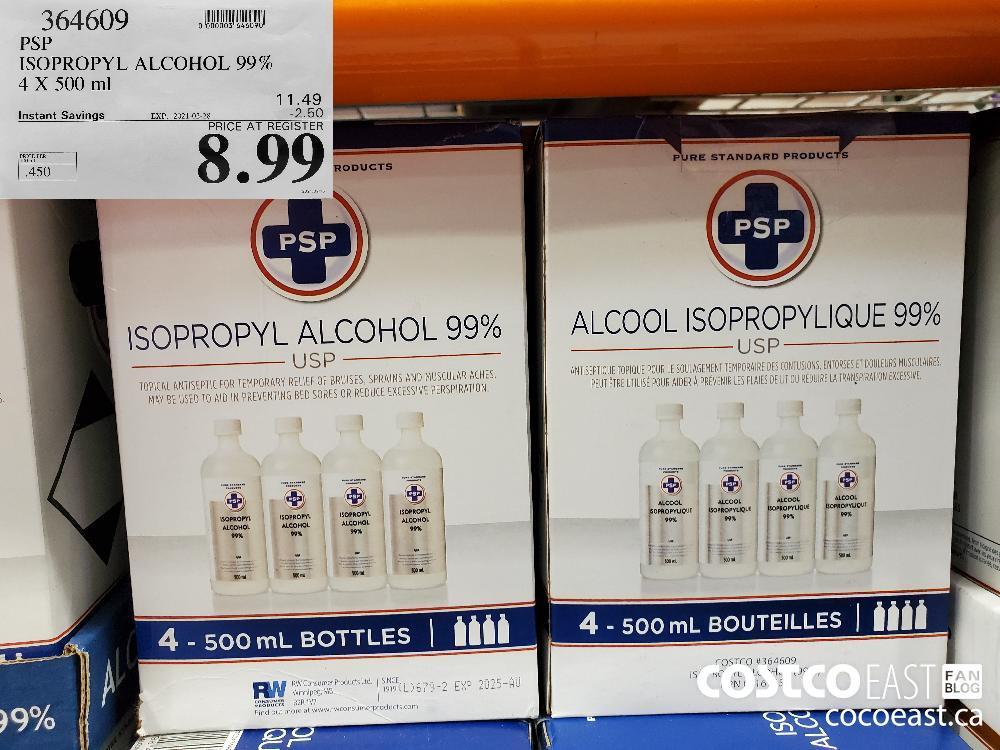 364609 PSP ISOPROPYL ALCOHOL 99% EXPIRY DATE: 2021-02-28 $8.99
