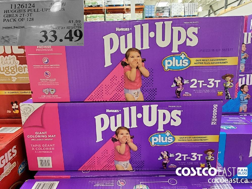 1126124 HUGGIES PULL-UPS PLUS GIRLS 2T-3T PACK OF 128 EXPIRY DATE: 2021-02-28 $33.49