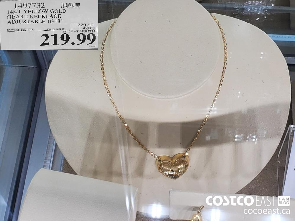 "1497732 14KT YELLOW GOLD HEART NECKLACE ADJUSTABLE 16-18"" EXPIRY DATE: 2021-02-24 $219.99"