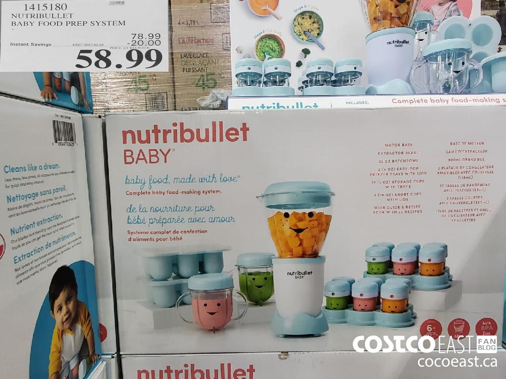 1415180 NUTRIBULLET BABY FOOD PREP SYSTEM EXPIRY DATE: 2021-02-28 $58.99
