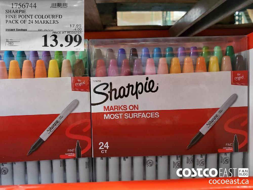 1756744 SHARPIE FINE POINT COLOURED PACK OF 24 MARKERS EXPIRY DATE: 2021-02-28 $13.99