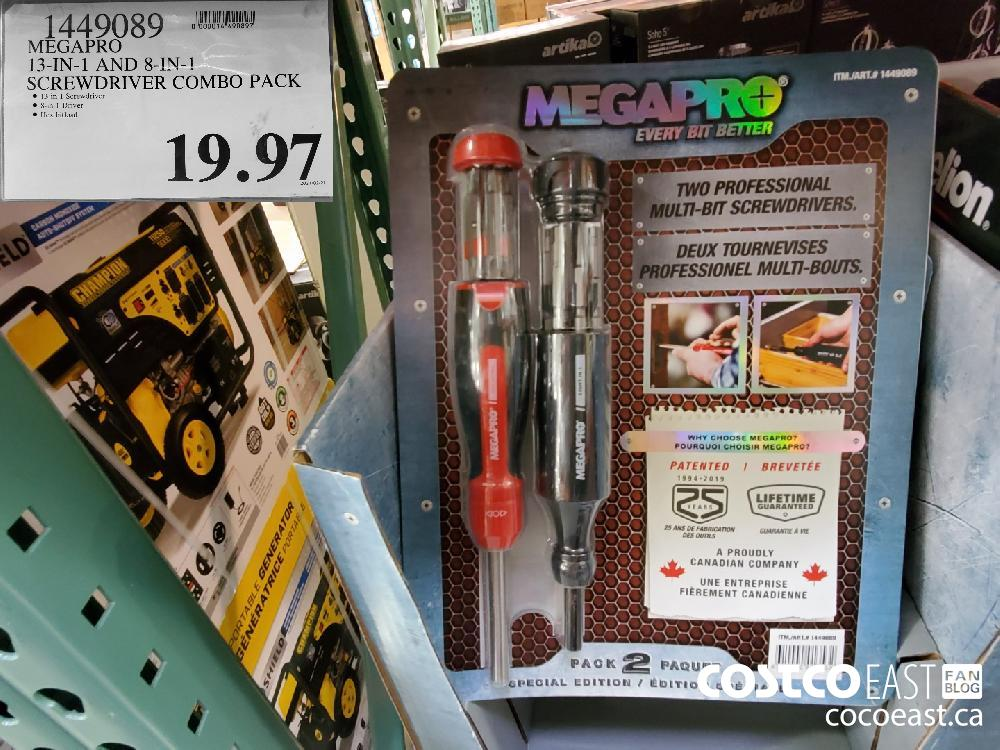 1449089: MEGAPRO 13-IN-1 AND 8-IN-! SCREWDRIVER COMBO PACK $19.97