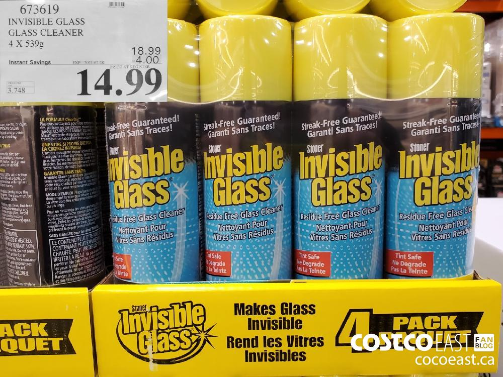 673619 INVISIBLE GLASS GLASS CLEANER 4 X 539g EXPIRY DATE: 2021-02-28 $14.99