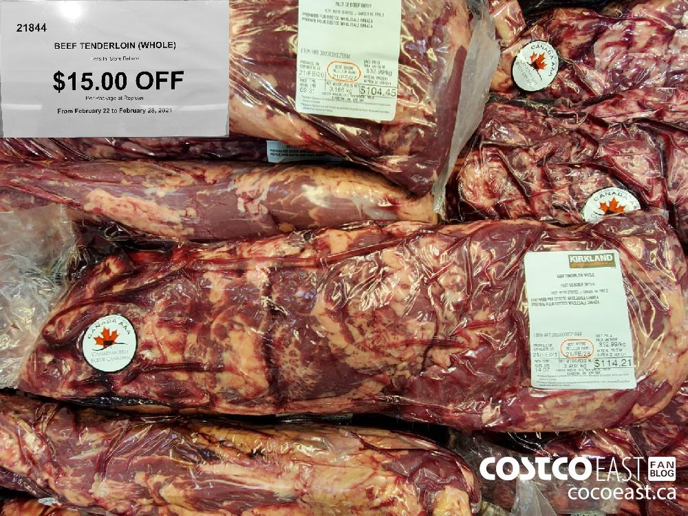 21844 BEEF TENDERLOIN (WHOLE) Less In-Store Rebate $15.00 OFF From February 22 to February 26 2021