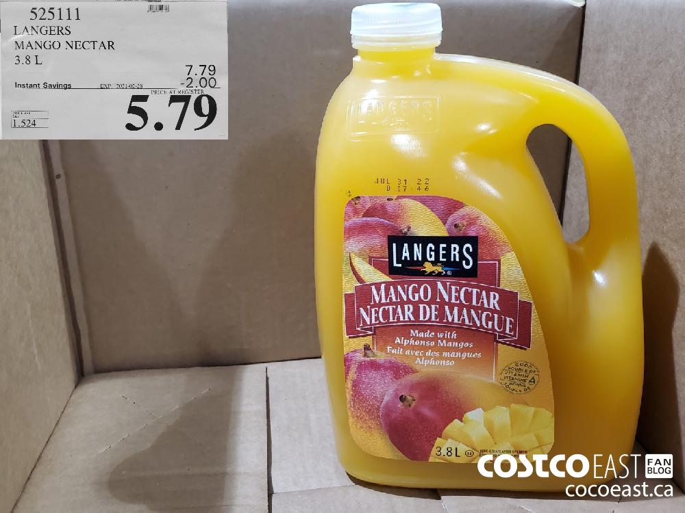 525144 LANGERS MANGO NECTAR 3.8L EXPIRY DATE: 2021-02-28 $5.79