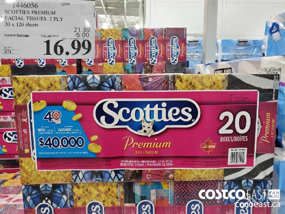 1446056 SCOTTIES PREMIUM FACIAL WIPES 20 X 126 SHEETS EXPIRY DATE: 2021-02-28 $16.99