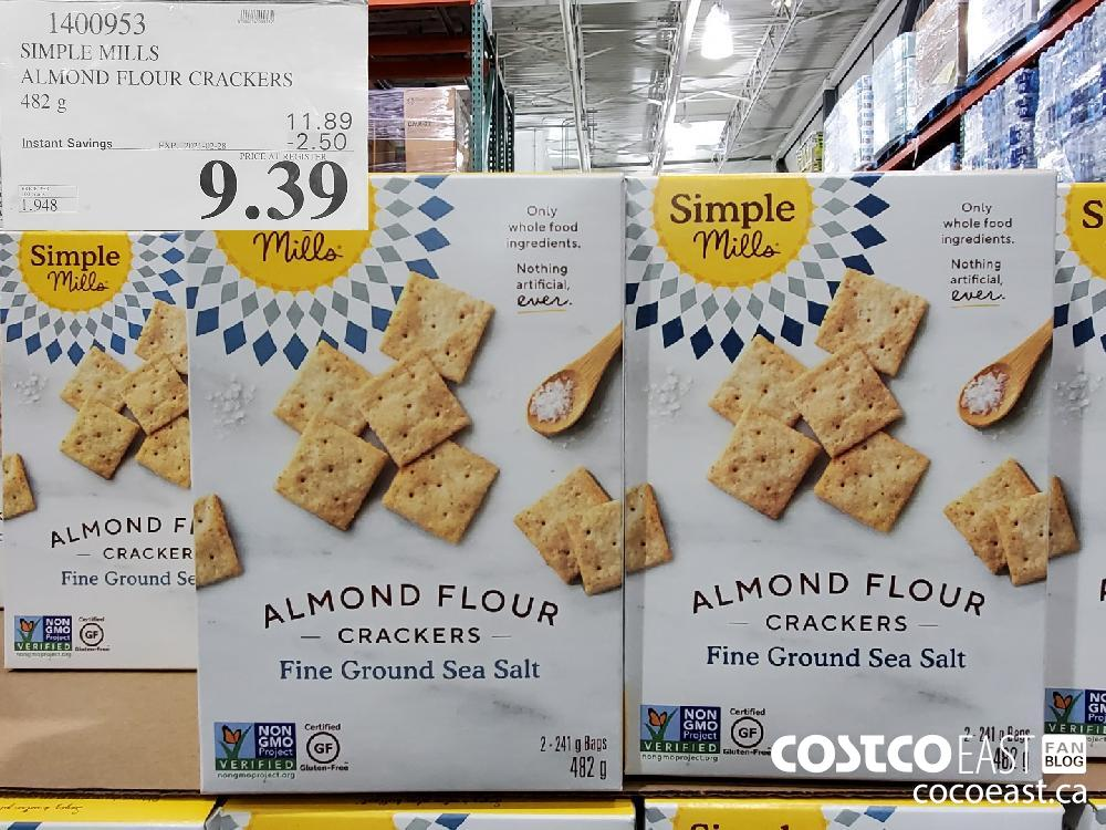 1400953 SIMPLE MILLS ALMOND FLOUR CRACKERS 482 G EXPIRY DATE: 2021-02-28 - $9.39