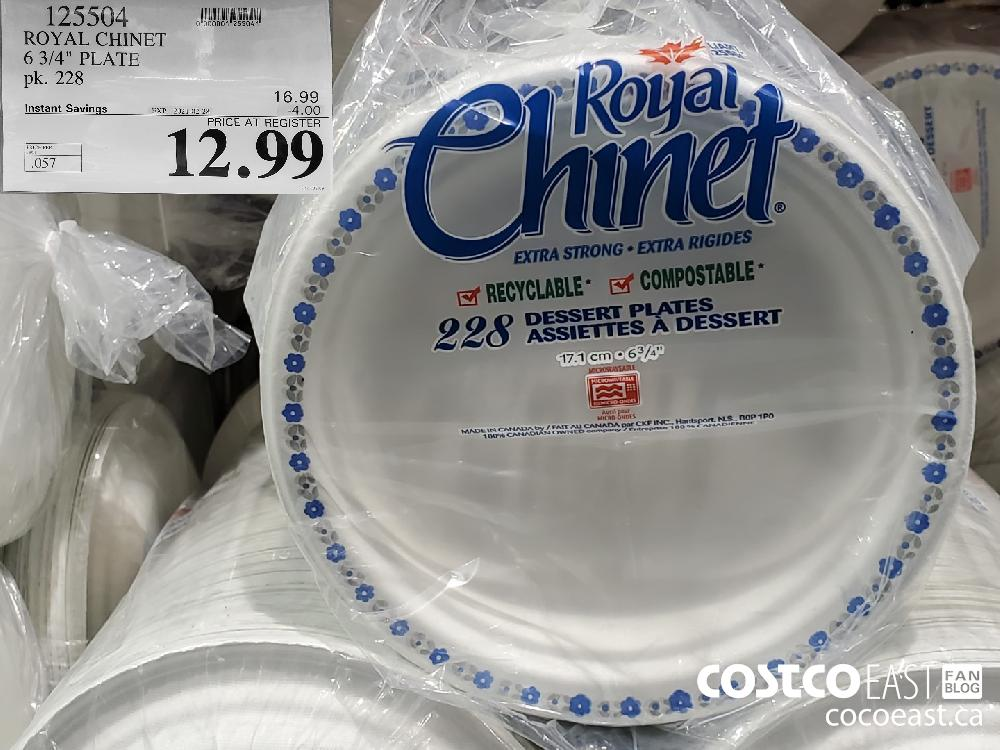 "125504 ROYAL CHINET 6 3/4"" PLATE EXPIRY DATE: 2021-02-28 $12.99"