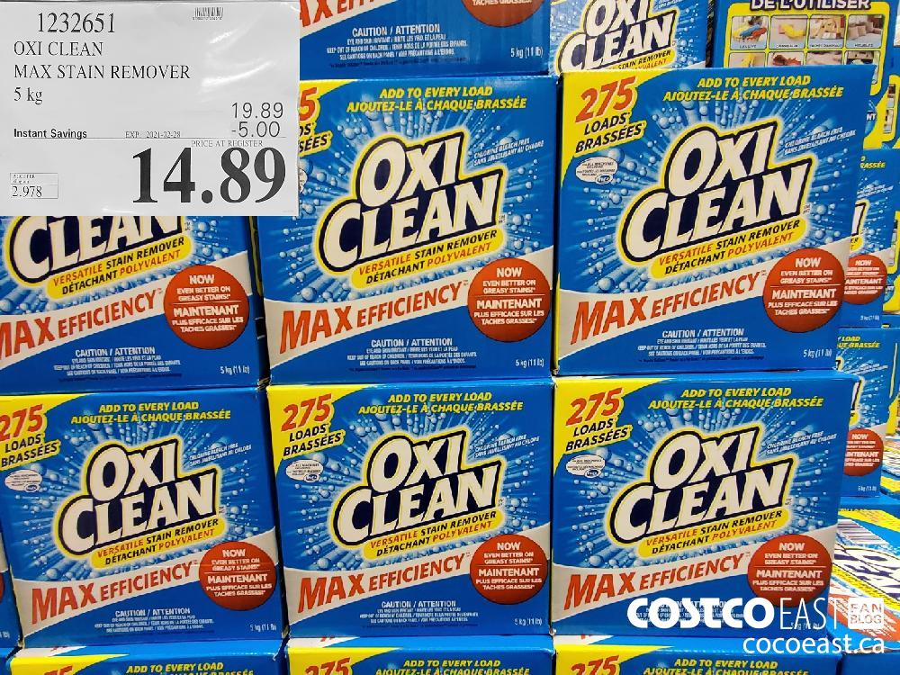 1232651 OXI CLEAN MAX STAIN REMOVER 5KG EXPIRY DATE: 2021-02-28 $14.89