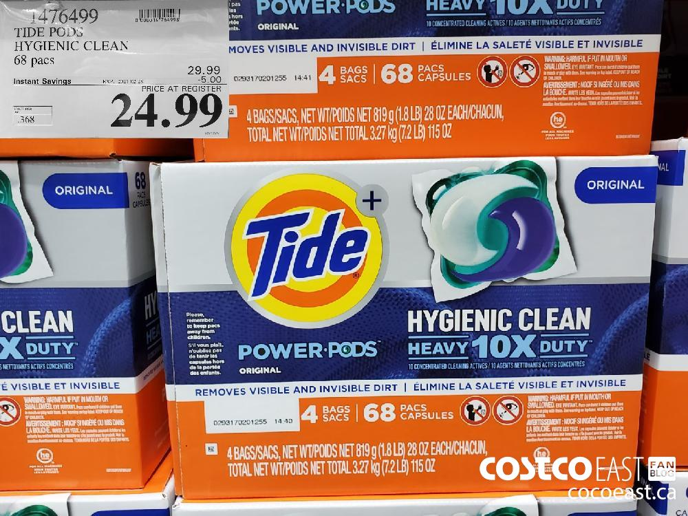 1476499 TIDE PODS HYGIENIC CLEAN 68 pacs EXPIRY DATE: 2021-02-28 $24.99