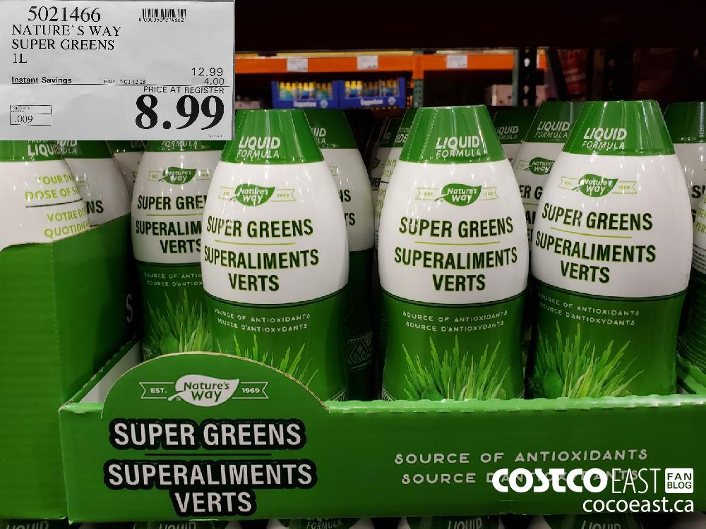 5021466 NATURE'S WAY SUPER GREENS 1L EXPIRY DATE: 2021-02-28 $8.99