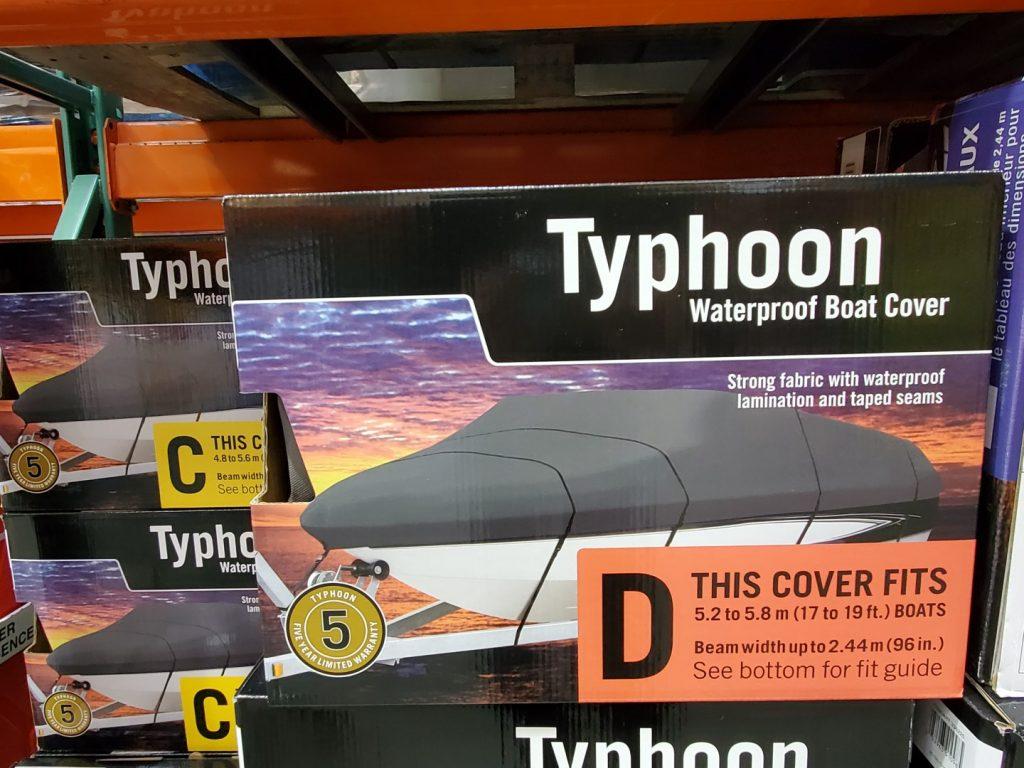 Typhoon waterproof boat cover size D