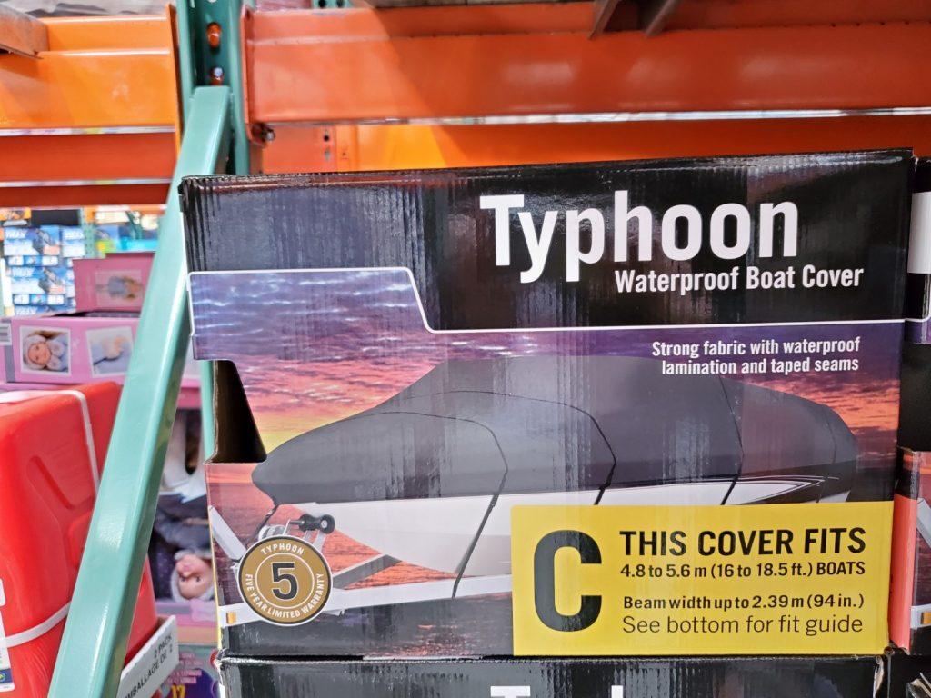 Typhoon waterproof boat cover size C