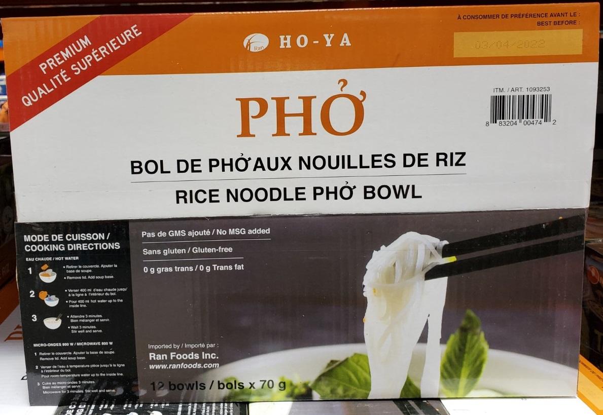 ho-ya rice noodle pho bowl