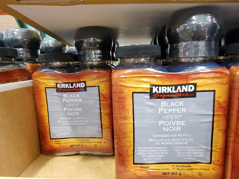 Kirkland Signature black pepper 357g