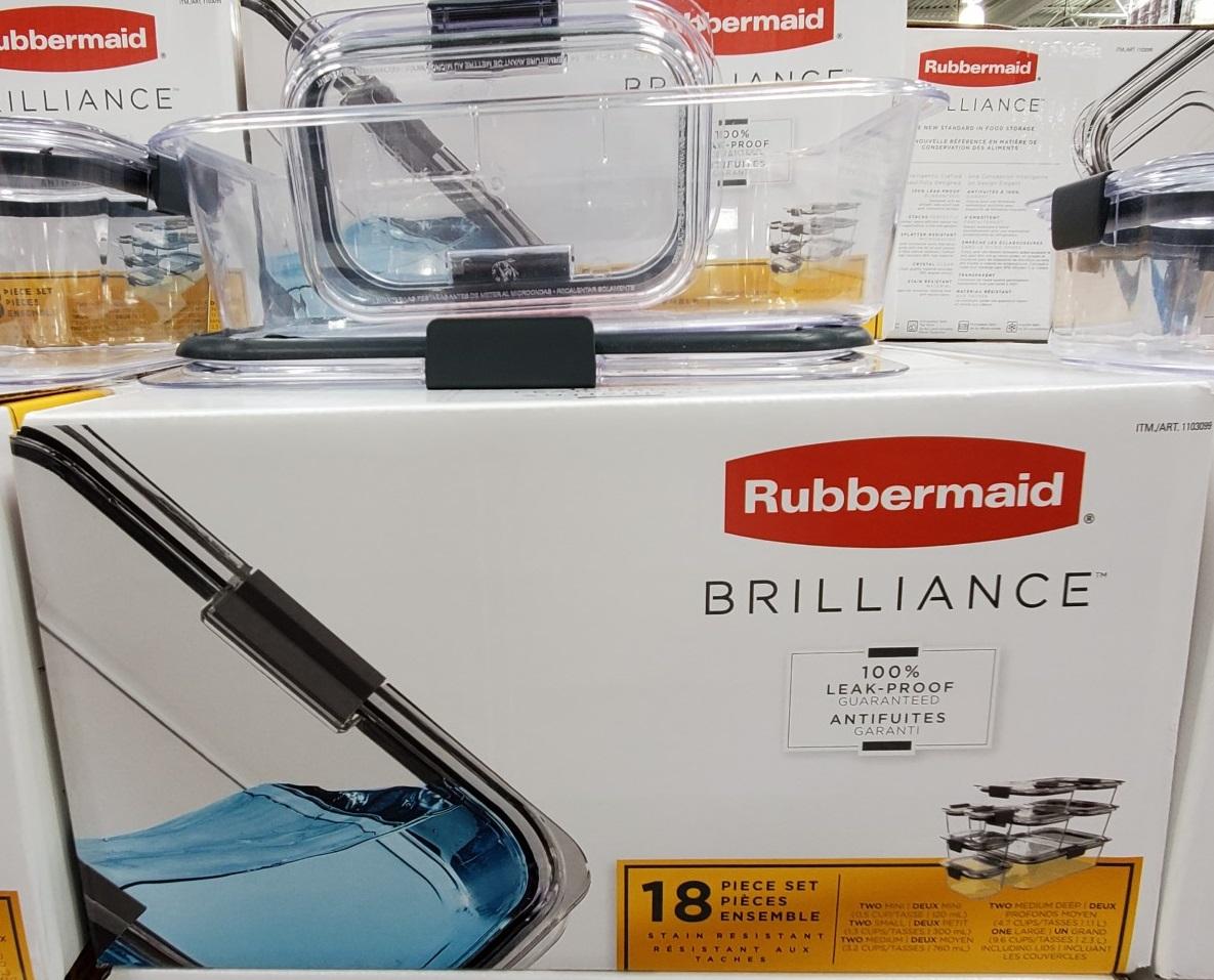 rubbermaid brilliance 18 piece food storage set